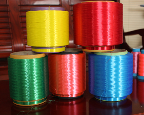 Polyester color silk